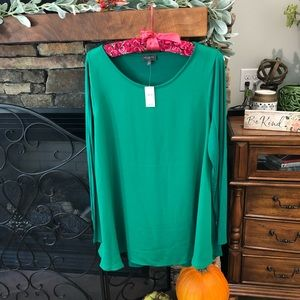 The Limited Green long sleeve blouse. Size L
